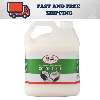 1 x 4 Litre Extra Virgin Coconut Oil, 100% Certified Organic Raw & Cold Pressed