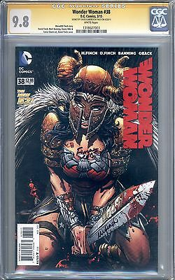Wonder Woman #38 CGC 9.8 SS Signed Finch and Finch New 52