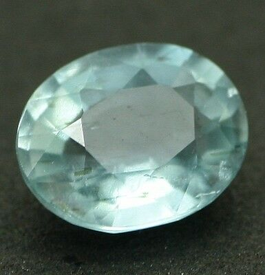 Natural Unheated AQUAMARINE 6.9x5.6mm Oval Facet 0.98ct