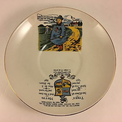 Vintage Tykes Motto BCM NelsonWare England Bowl Dish Plate