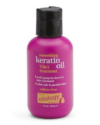 Smoothing Keratin Oil 7 In 1 Leave In Hair Treatment 4 Fl Oz  By Oliology
