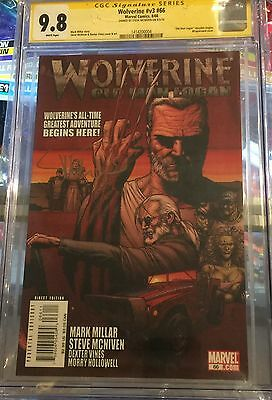 Wolverine #66 CGC 9.8 Signed By Steve McNiven 1st Old Man Logan Movie Not 9.9