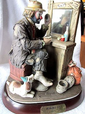 Emmett Kelly Jr Limited Figurine Making Up Signed 2 X's Signature Collection Nib
