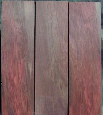 """3 THIN REDHEART BOARDS-1/8"""" thick-lumber/wood/crafts/veneer/ inlay/scrollsaw"""
