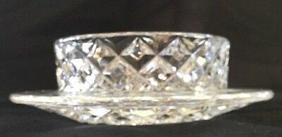 Crystal Open Butter Dish With Rim