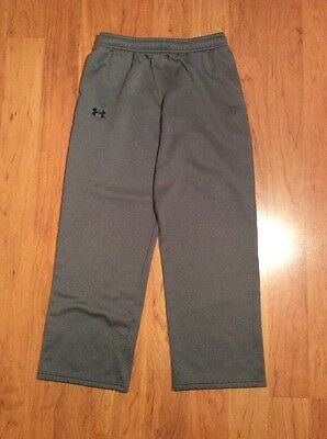 Boys Under Armour Loose Inside Fleece Storm Pants Gray Size YLG