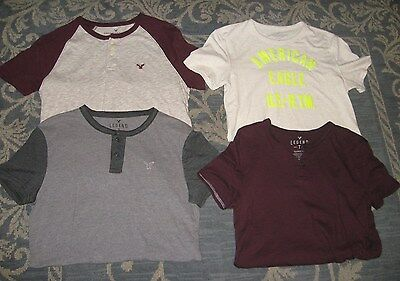 Mens Lot Of 4 American Eagle Short Sleeves Size Xs And Small Excellent Condition