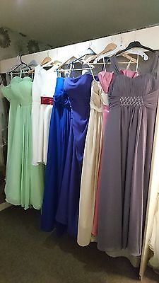 Job lot 10 x Bridesmaids/Evening/Prom/Flowergirls dresses in Mixed Sizes