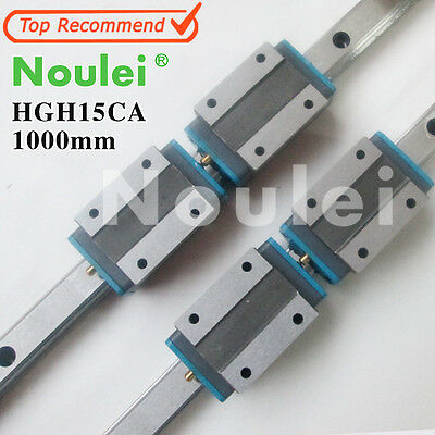 Noulei 1000mm HGR15 Linear Guide rails With HGH15CA lineaire slider