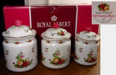 Royal Albert OLD COUNTRY ROSES 3 Piece Canister Set - NEW / BOX!