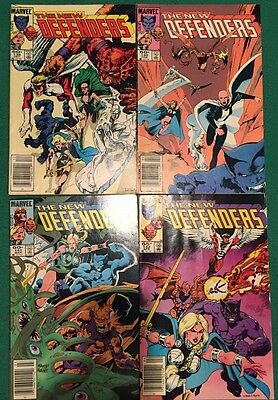 Lot of four Marvel The New Defenders comics
