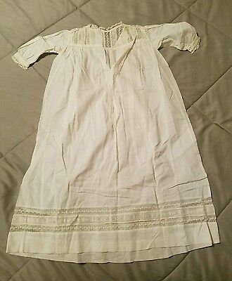 Vintage 1880s Early Victorian Christening Gown