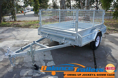 7x5 HOTDIP GALVANISED FULLY WELDED TIPPER BOX TRAILER WITH 600mm REMOVEABLE CAGE