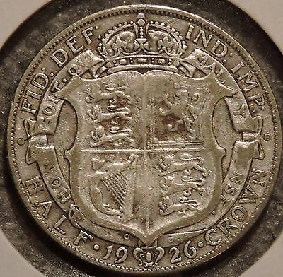 British Silver Half Crown - 1926 - King George V - $1 Unlimited Shipping