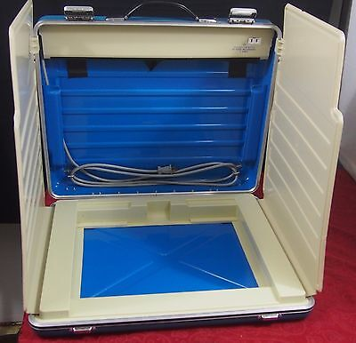 Retired Vintage Suitcase Voting Machine Booth Vote Election Hardly Used
