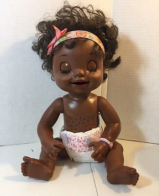 HASBRO 2007 AFRICAN AMERICAN  BABY ALIVE DOLL SOFT FACE Working See Description
