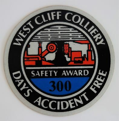 West Cliff Colliery Mining Sticker For Toolbox Work Bench Hard Hat Etc