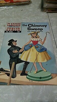Classics Illustrated Junior #536 1St Printing Fine+ The Chimney Sweep Hrn 534
