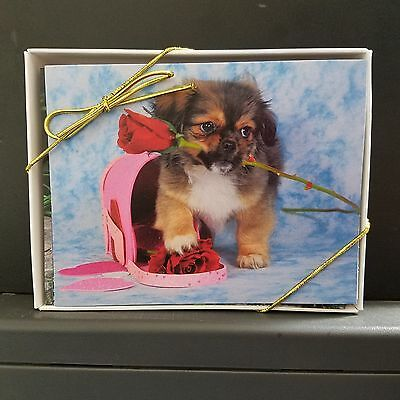 Tibetan  Spaniel Puppies Note Cards