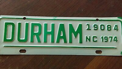 Durham NC license plate city topper