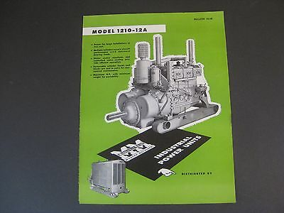 Vintage Minneapolis Moline 1210-12A Industrial Power Units Sales Brochure