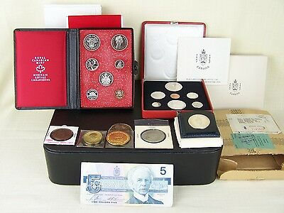 Collection of Canadian Coins lot - 50's, 60's, 70's includes 2 Royal Mint Sets!