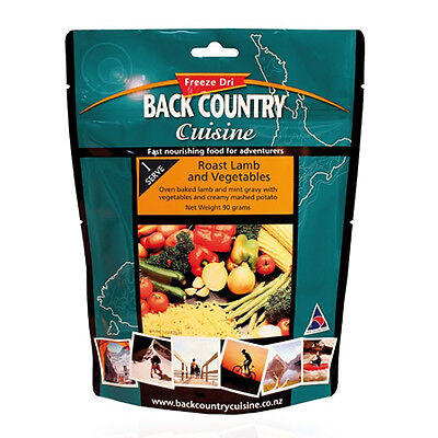 NEW Back Country Cuisine Roast Lamb and Vegetables - 1 serve