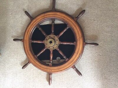 Authentic WWII US Navy Liberty Ship 8-spoke helms wheel