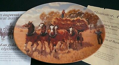 In Harmony With Nature, by Max Middleton, Collectors Plate