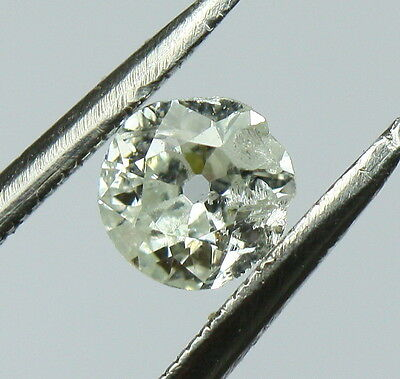 Loose 0.32ct Natural Round Old Mine Cut Diamond G - I1 4.40mm Diameter