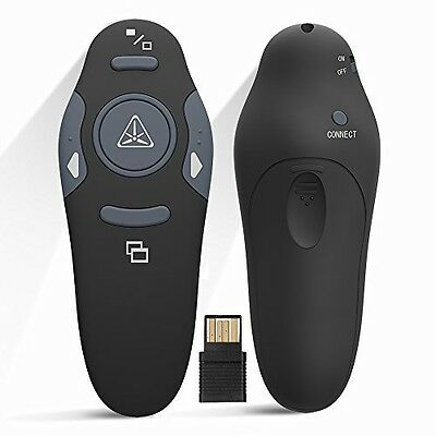 Ranipobo 2.4GHz Wireless USB PowerPoint PPT Presenter Remote Control Lase