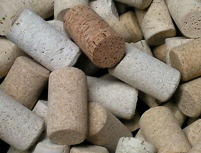 300 wine corks BLANKS only.  Agglomerated variety  lighter to darker shades