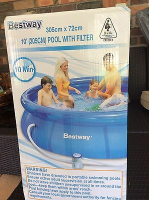 BESTWAY Inflatable Pool 305x72cm with Filter Pump - Wollongong