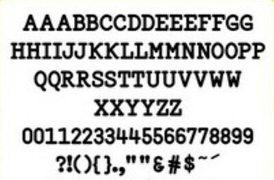 Hint of Lime metal alphabet/font die - numbers, letters & punctuation.