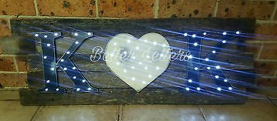 personalised made to order rustic wedding sign