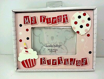 My First Birthday Picture Frame Pink Girl By Koala Baby New In Box