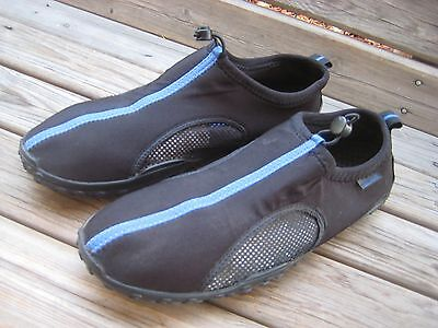 Men's SIZE 13 Speedo Hydro Tread Water Shoes BLACK AND BLUE