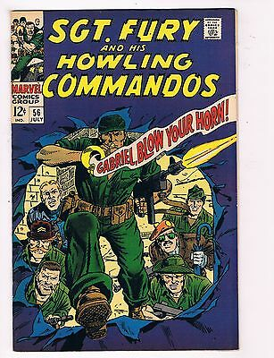 Sgt. Fury # 56 VF+ Nick Fury Marvel Comic Book Canning PEDIGREE Collection D21
