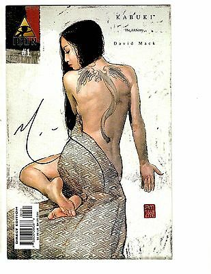 Lot Of 4 Kabuki Icon Marvel Comics # 1 4 7 8 / 3 SIGNED By David MACK AB6