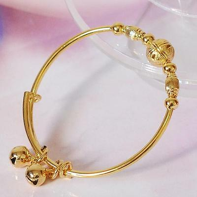 Beautiful Adjustable Baby's 18K Yellow Gold Filled Bangle.45Mm