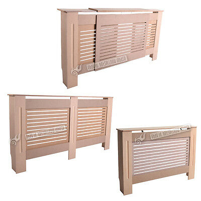 Radiator Cover Unfinished Traditional Modern MDF Wood Cabinet Grill Furniture