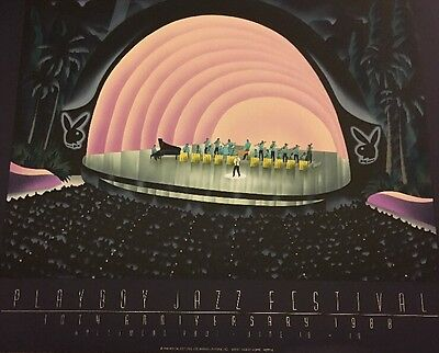 HOLLYWOOD Jazz PLAYBOY Special Edition ART DECO Sty Robert Hoppe Poster MIRAGE