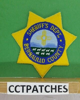 Bernalillo County, New Mexico Sheriff Police Badge Shoulder Patch Nm
