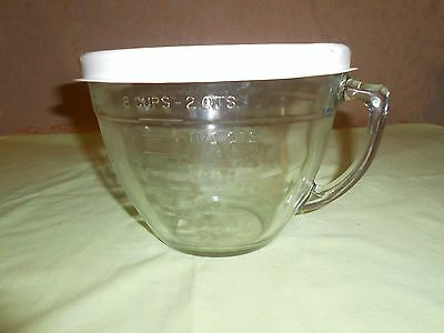 Pampered Chef Large Batter Bowl 2 Qt - 8 Cup Measuring Cup Pitcher Mixing Bowl