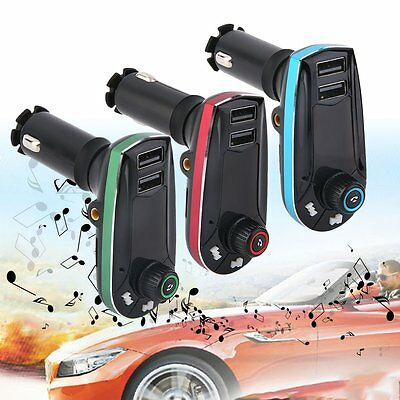 Rot Bluetooth Auto FM Transmitter Sender PKW MP3 Musik Player USB Stick SD DHL