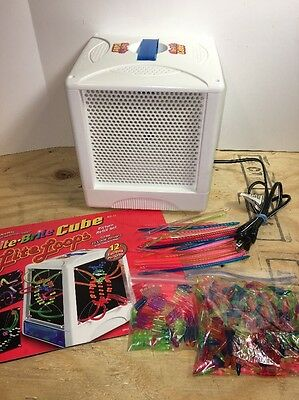 Lite Brite Cube LOTS of Pegs 10 Sheets 2001 Hasbro Toy 4 sided Light Bright