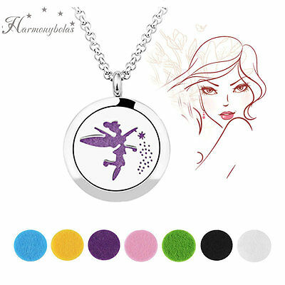 """Magic Fairy Aromatherapy Pendant Locket 316L stainless steel Chain Necklace 20"""""""