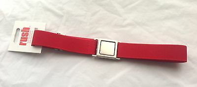 New Girls Red Adjustable Belt Silver Buckle - One Size *freepost* Rrp $14.95