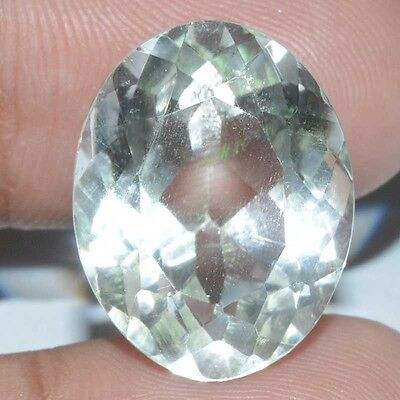 20.80 Cts.100% Natural Chrystal Quartz Faceted Cut Oval Loose Gemstone Brazil