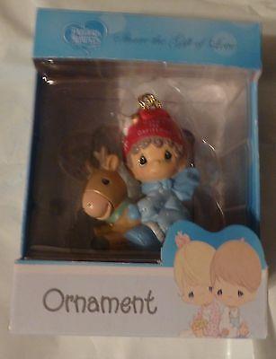 """2016 Precious Moments Boy's """"Baby's First Christmas"""" Ornament"""